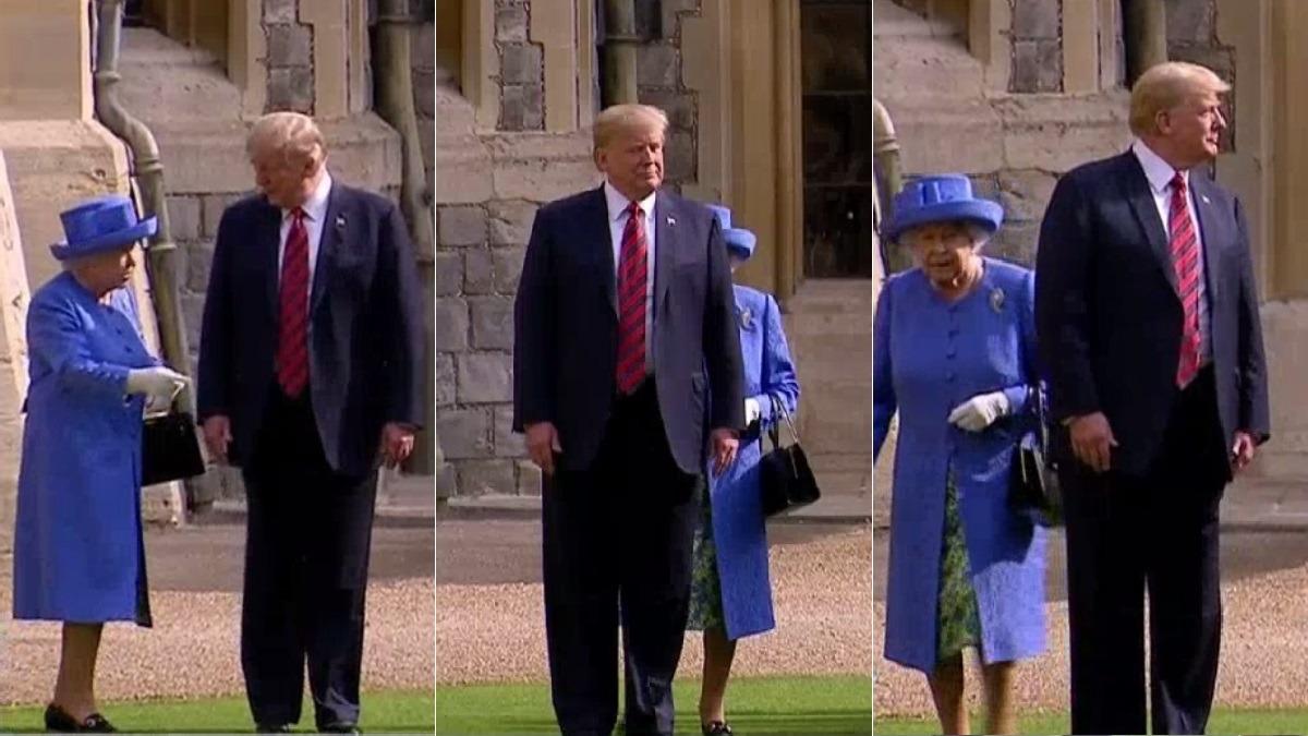 La reina de Inglaterra recibió a Donald y Melania Trump en el castillo de Windsor.