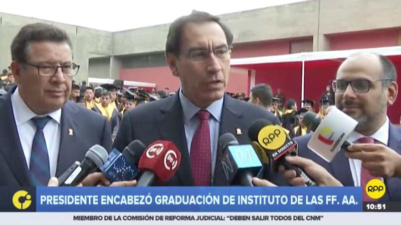 Martín Vizcarra reiteró la necesidad de una reforma del sistema de justicia.