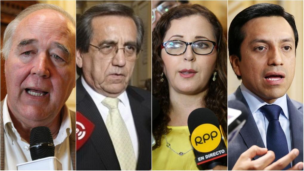 Congresistas se pronuncian sobre audios que comprometen a sus colegas Mulder y Becerril.
