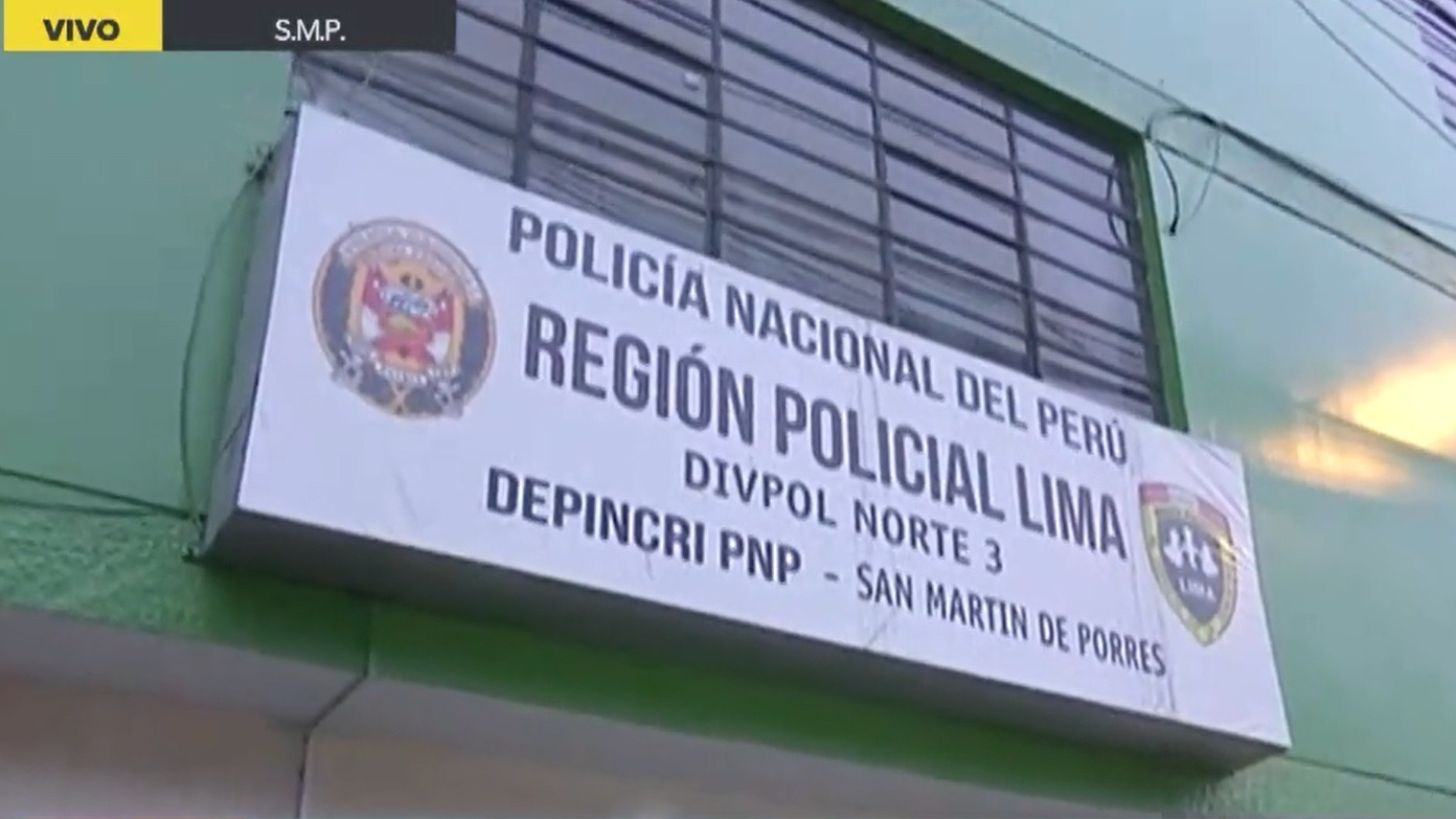 El sujeto fue detenido y llevado a la Dirincri de San Martín de Porres.