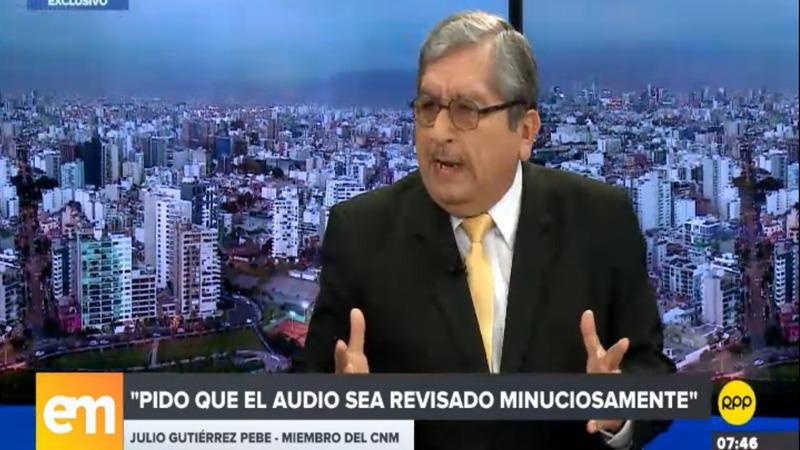 Julio Gutiérrez Pebe anunció que renunciará.