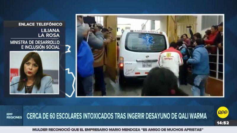 Liliana La Rosa respondió por la intoxicación de escolares en Cañete.