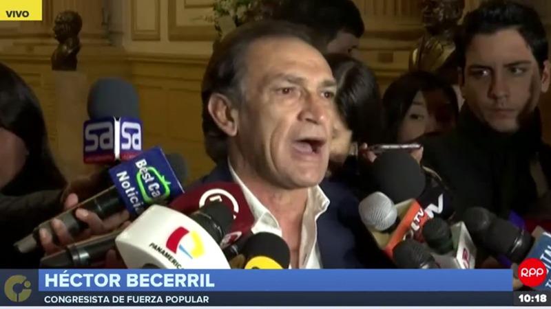 Héctor Becerril tras la difusión de los audios.