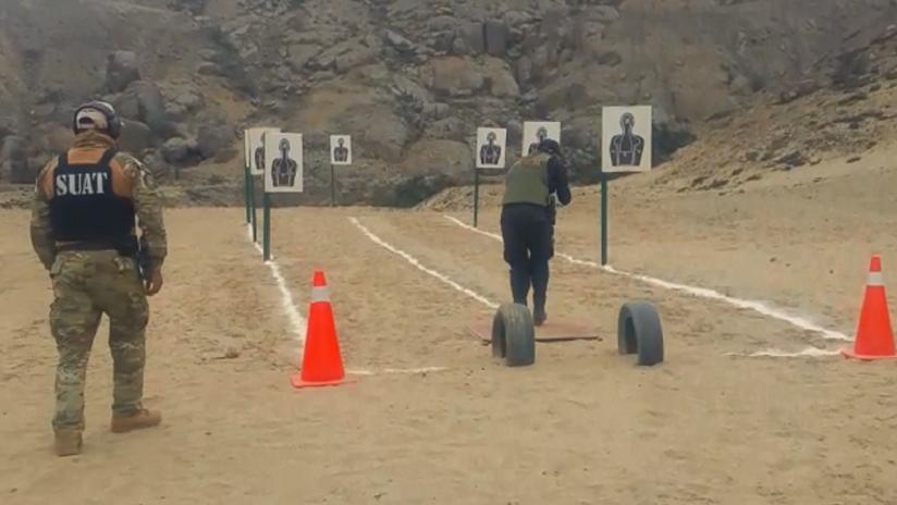 Una intensa preparación recibieron los efectivos de la Unidad SWAT al pie de la quebrada San Carlos.