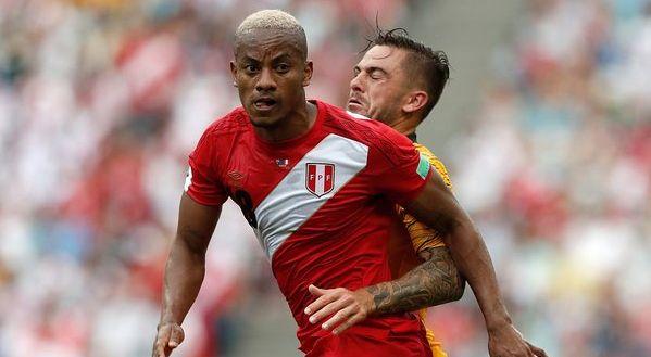 André Carrillo usó la dorsal '18' con la Selección Peruana en Rusia 2018.