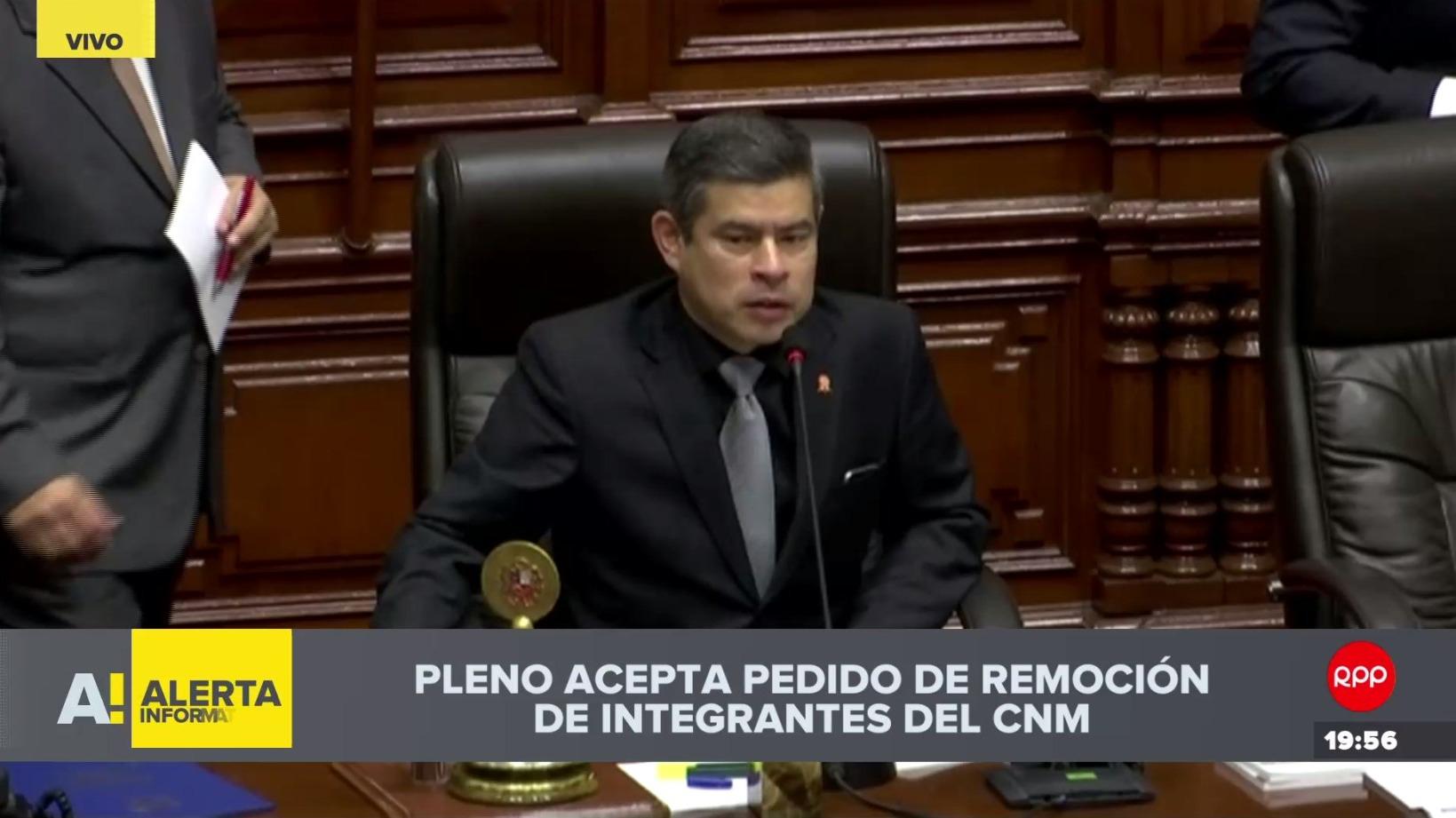 Pleno del Congreso aprueba remoción de los integrantes del CNM.