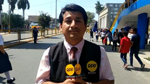 RPP Noticias recogió malestar de profesores chiclayanos.