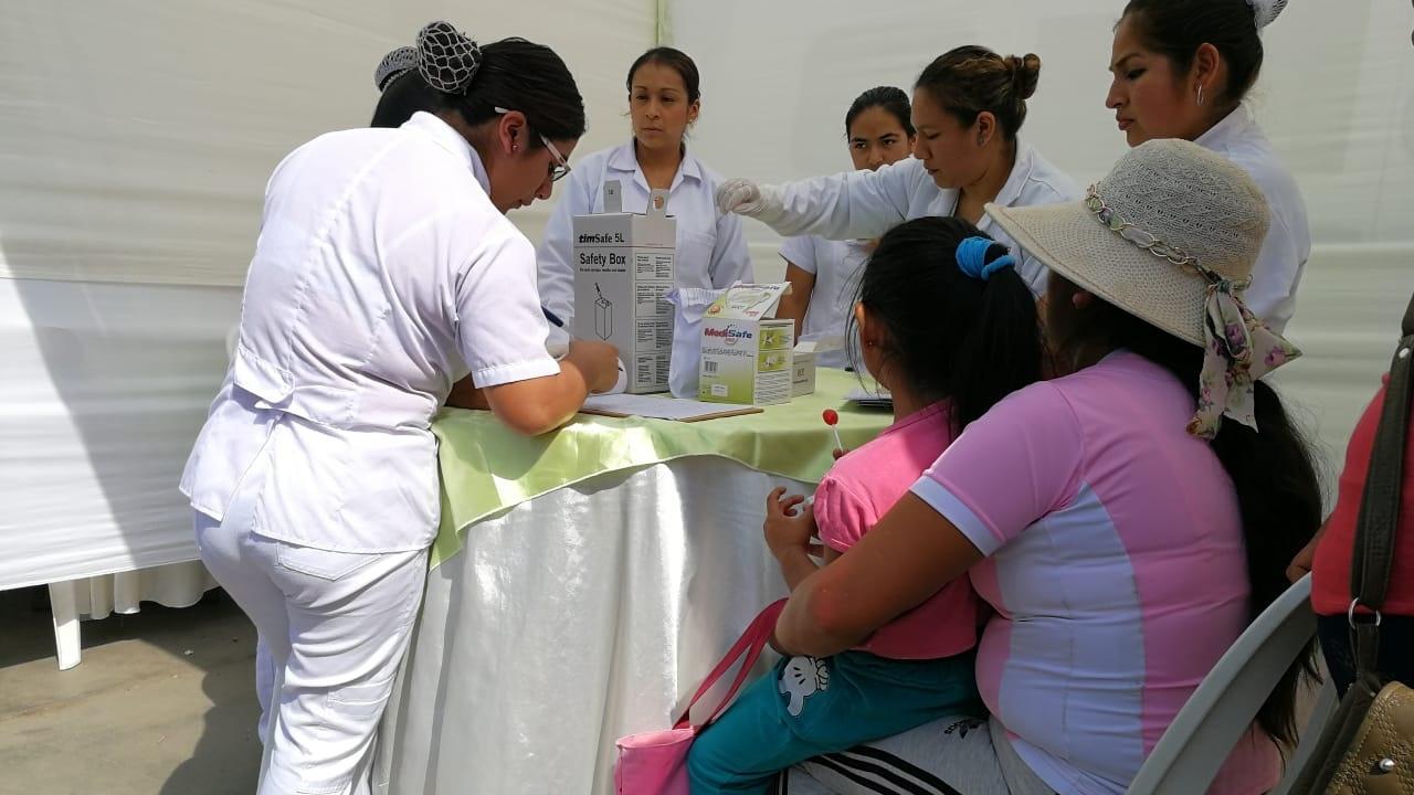 Niños y madres gestantes participaron de una jornada contra la anemia en Laredo.