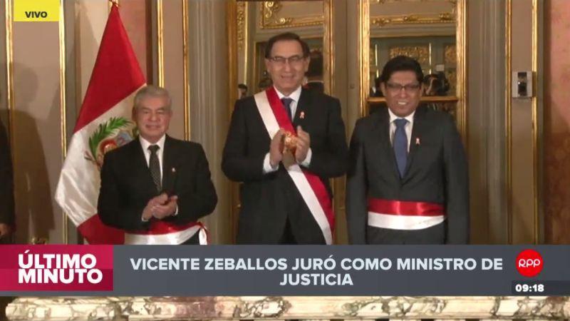 Vicente Zeballos asumió en medio de denuncias de corrupción y tráfico de influencias que han golpeado todo el sistema judicial peruano.