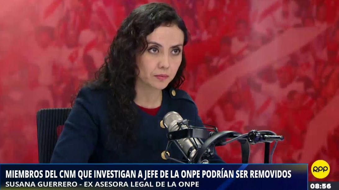 La exasesora legal, Susana Guerrero pidió al Ministerio Público realizar una verificación inmediata de las denuncias que realizó respecto a las firmas falsas detectadas de la organización política Podemos Perú.