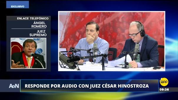 El magistrado Romero respondió por audio con juez Hinostroza.