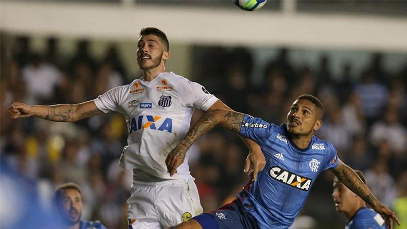 Flamengo igualó 1-1 con Santos por la jornada 15 del Brasileirao.