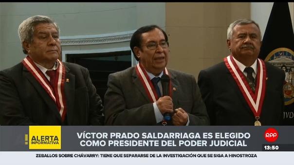 Vícto Prado Saldarriaga fue elegido por la Sala Plena de la Corte Suprema.