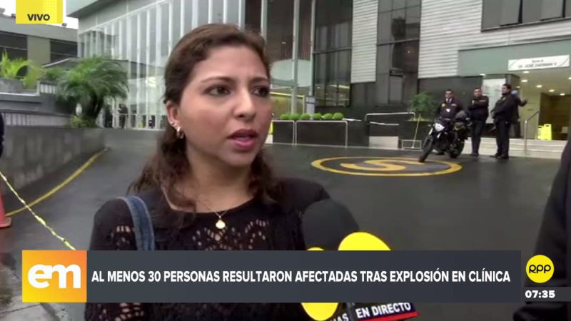 Katia Ratto contó a RPP Noticias que estuvo a segundos de pasar al lado de la explosión.