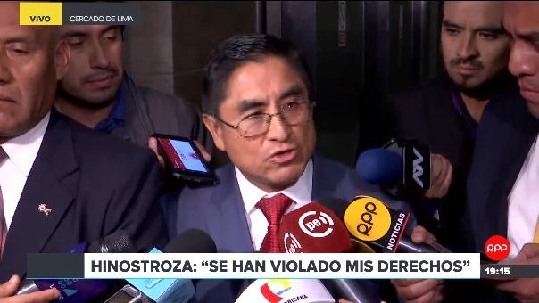 El juez César Hinostroza dijo que declara solo ante la Fiscalía y no ante la prensa.
