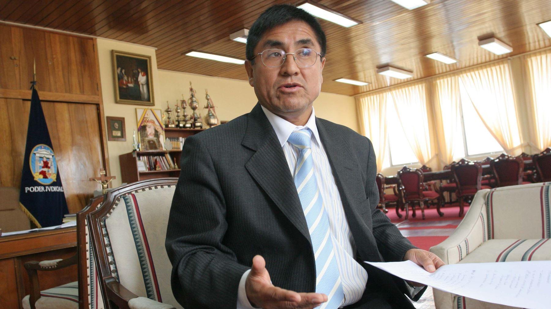 El juez supremo rechazó haberse reunido con Keiko Fujimori, luego de que se difundiera un audio en el que menciona a una
