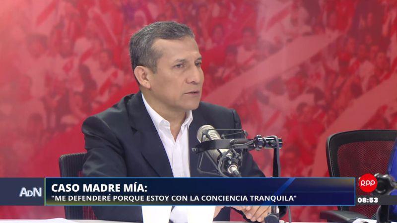 Ollanta Humala estuvo esta mañana en Ampliación de Noticias.