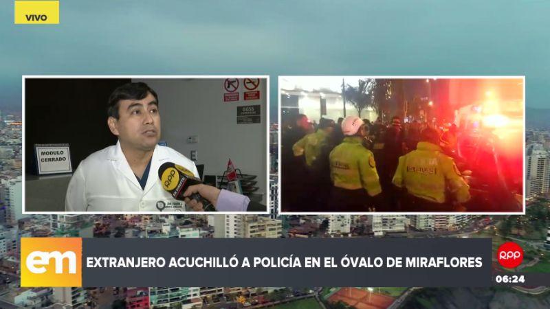 El suboficial PNP Irwin Carlos Gutiérrez Ortiz fue estabilizado y actualmente está en observación médica tras el ataque que sufrió.