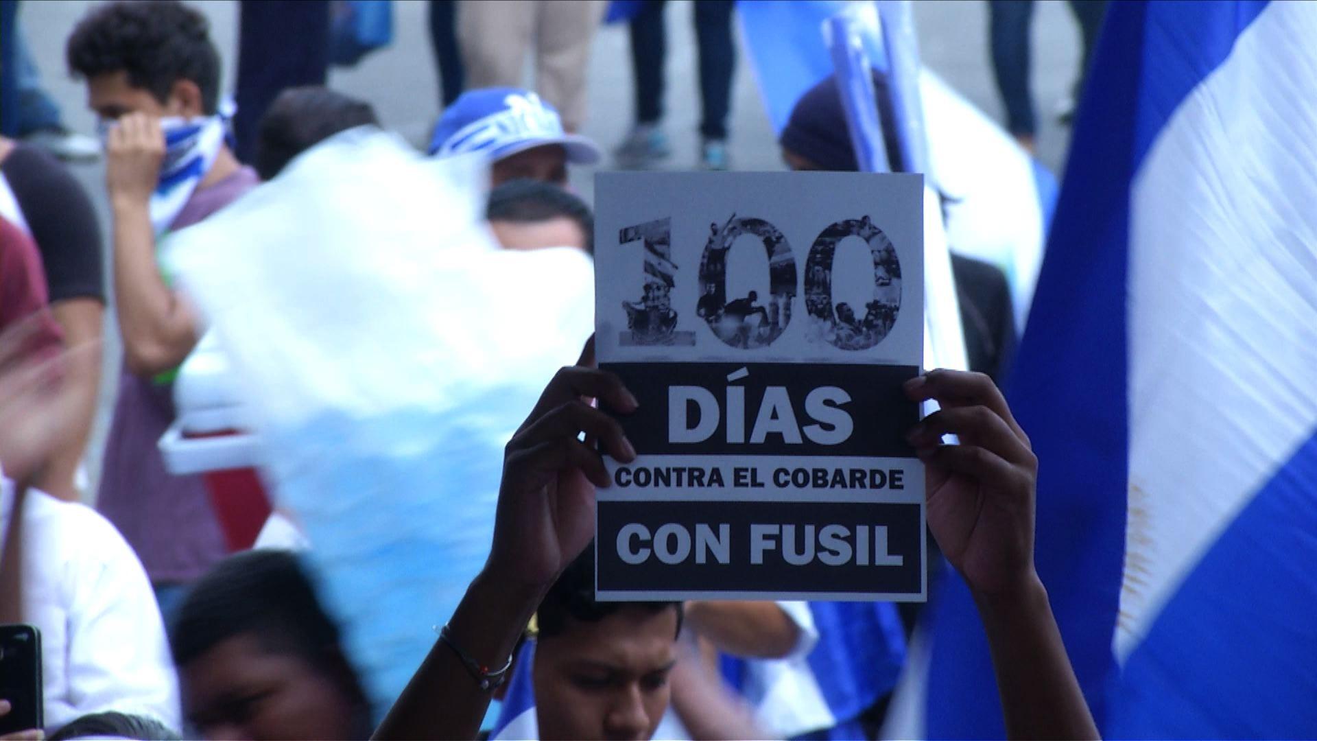 Nicaragua cumplió 100 días de la más sangrienta protesta desde 1980.