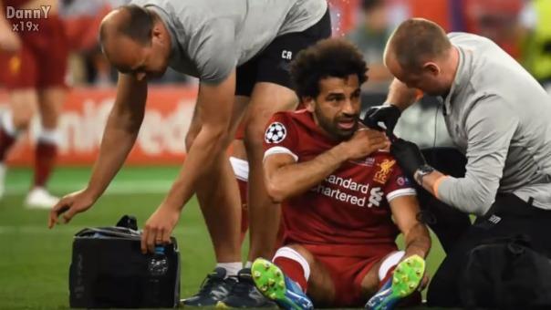 Mohamed Salah llegó entre algodones al Mundial Rusia 2018 por esta lesión al hombro.