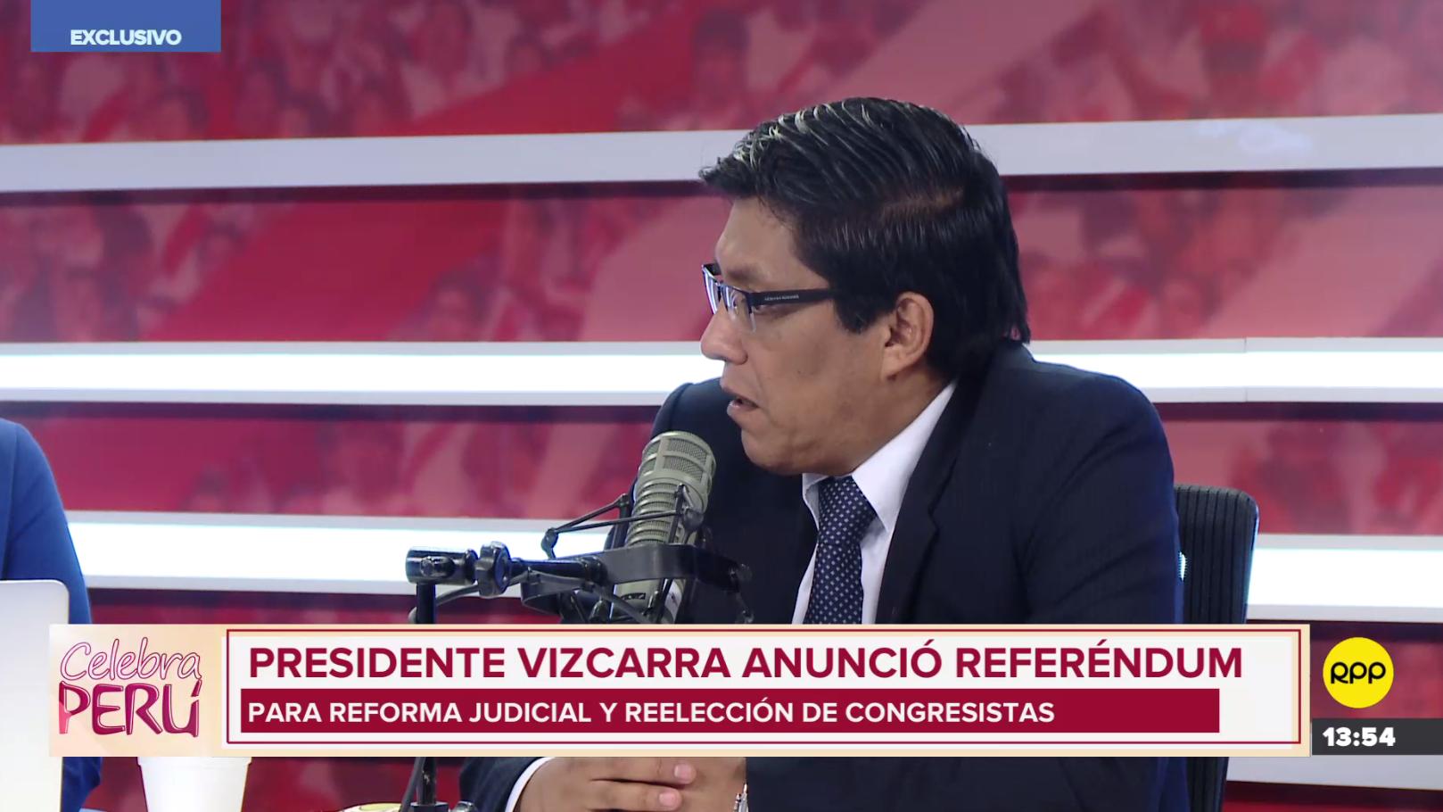 Ministro de Justicia, Vicente Zeballos, espera que propuesta de referendum sea vista este año.