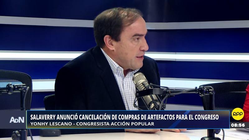 Lescano dijo a estar a favor del referéndum