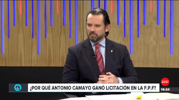 Juan Matute estuvo en RPP para explicar un contrato que tuvo el grupo Iza en la FPF.