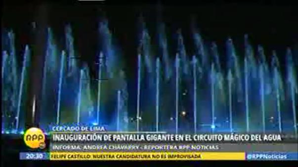 Estrenan La Mayor Pantalla De Agua Del Mundo En Parque De La Reserva