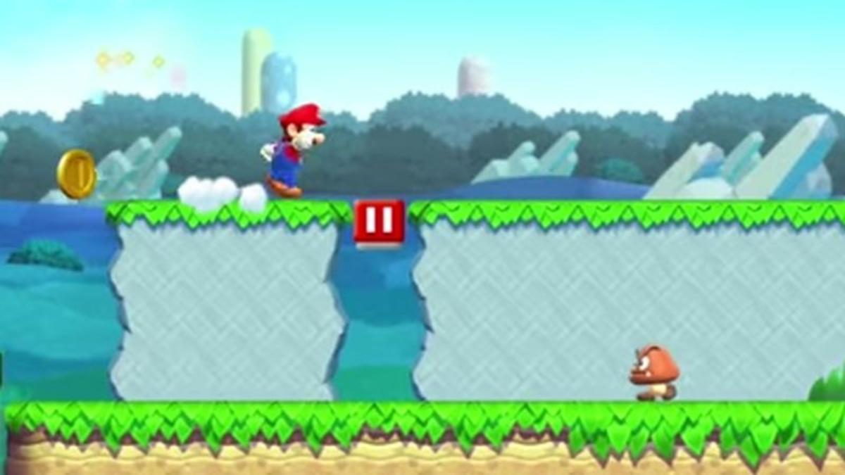 Este es el gameplay de Super Mario Run, publicado por Nintendo.
