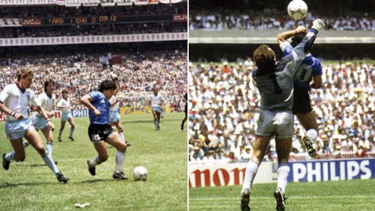 Youtube Diego Maradona La Mano De Dios Y El Gol Del Siglo Cumplen