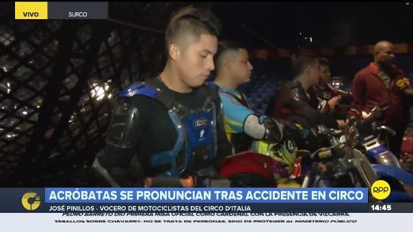 Acróbatas del Circo D'Italia conversaron con RPP Noticias y aseguraron que quieren continuar con su acto en el Globo de la Muerte.