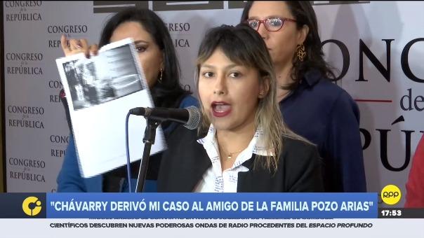 La joven activista denunció al fiscal de la Nación se haber favorecido a su agresor al asignar a un fiscal que es amigo de la familia de Adriano Pozo.