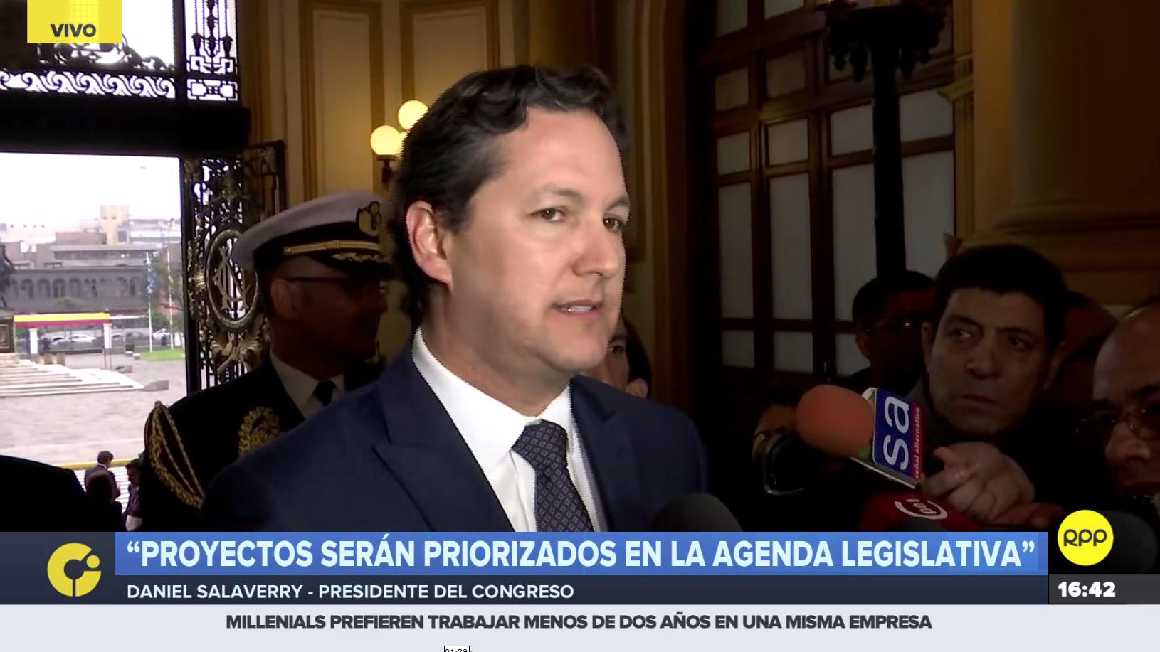 Daniel Salaverry se pronunció sobre proyectos de ley presentados por el presidente Martín Vizcarra.