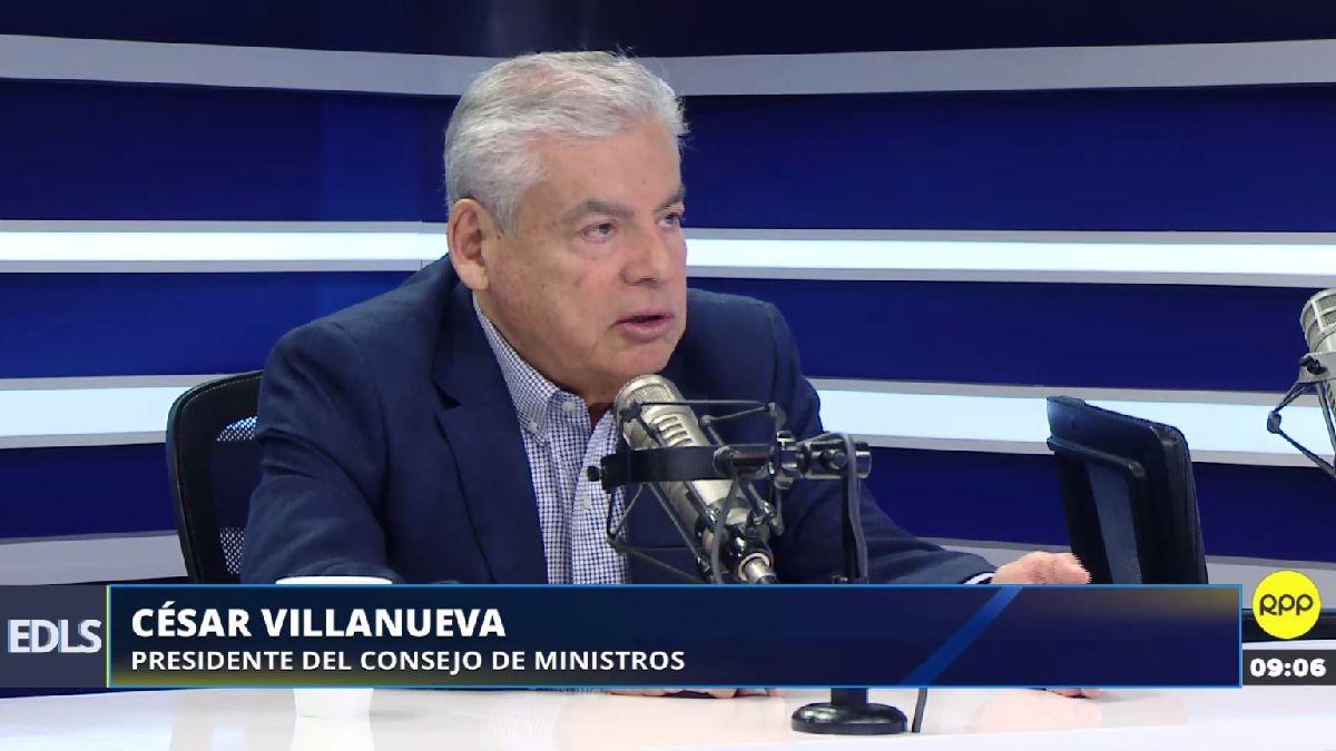 César Villanueva en entrevista con RPP Noticias.