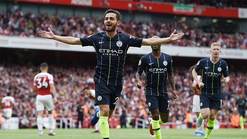 Bernardo Silva anotó el segundo gol en la victoria de Manchester City.