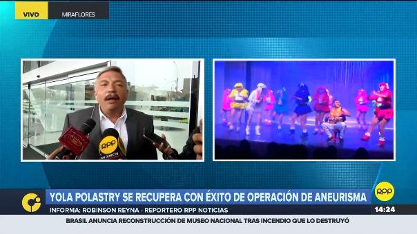 Alberto Beingolea informó sobre el estado de salud de Yola Polastry.