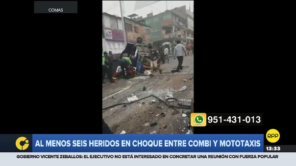 Se registró un accidente vehicular en Collique, Comas.
