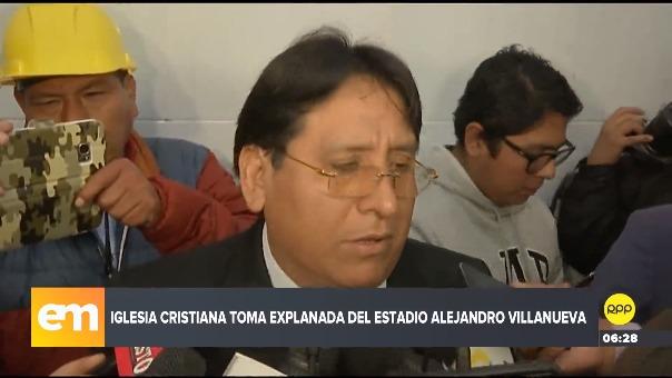 Abogado de iglesia cristiana defendió toma del recinto deportivo de Alianza Lima.