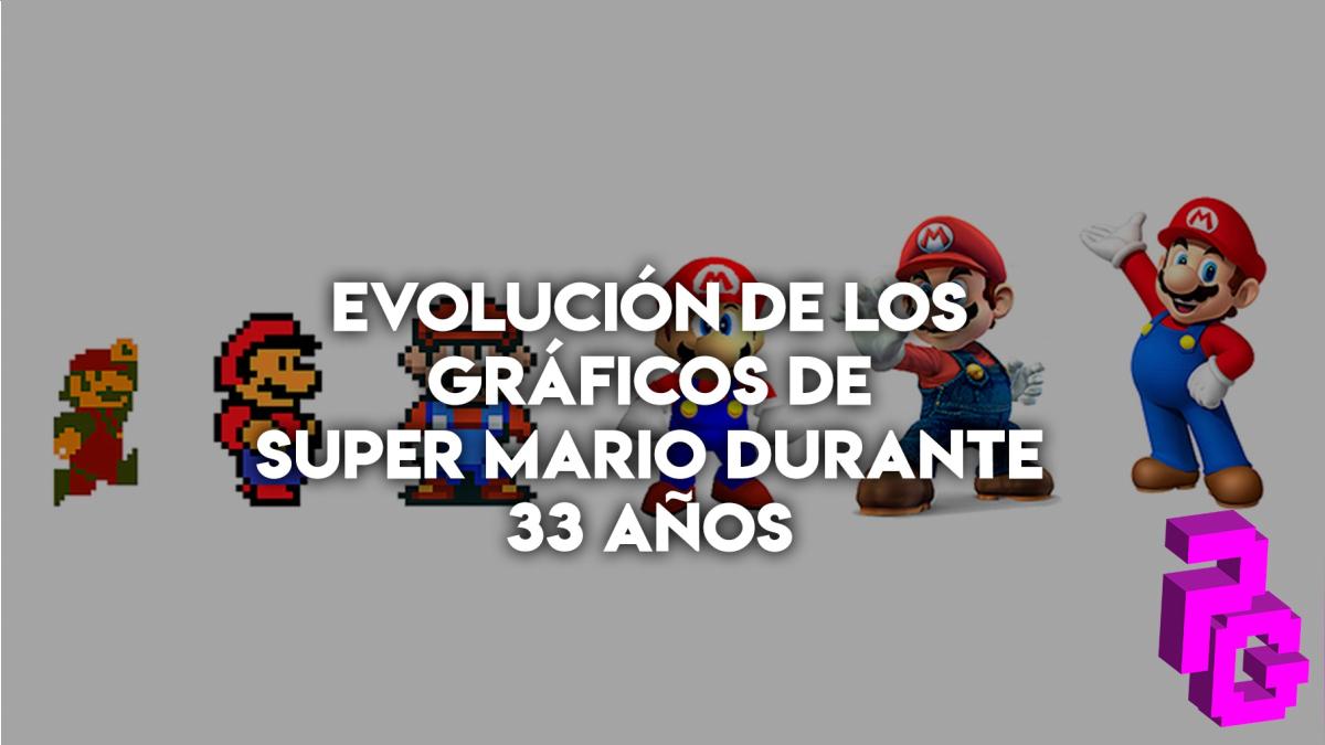 Mario ha cambiado considerablemente a los largo de los años, desde los 8 bits hasta llegar a poder ver el detalle de los pelos del bigote.