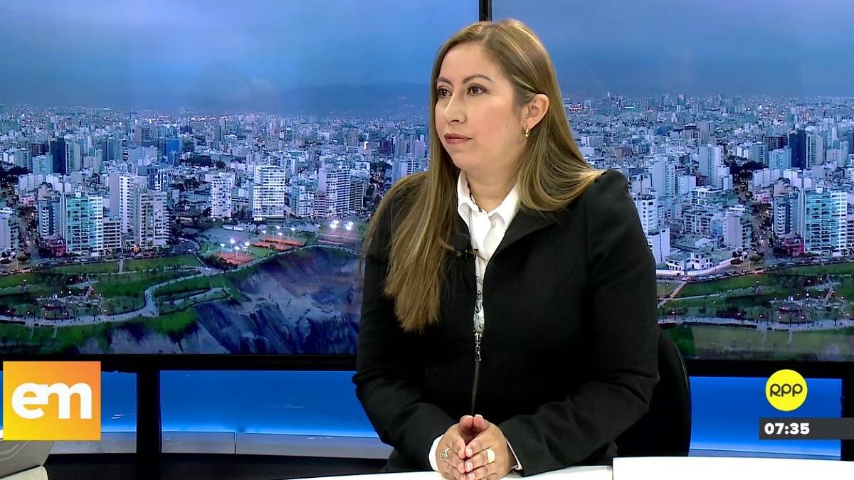 Katherine Ampuero se refirió a las investigaciones del Ministerio Público.