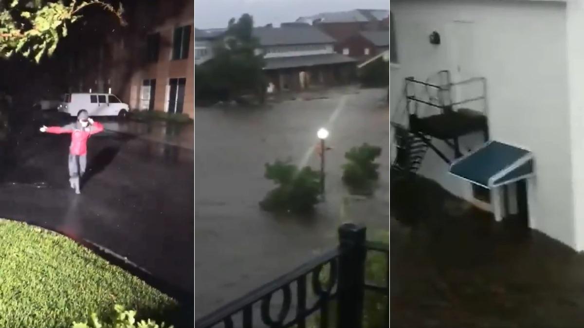 Así fue la llegada del huracán Florence a EE.UU.