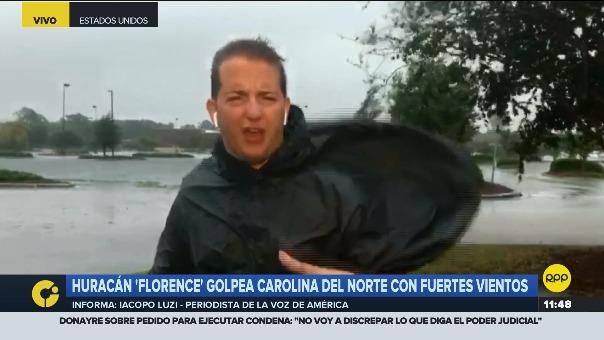 Iacopo Luzi, periodista de 'La Voz de América' y colaborador de RPP Noticias, reportó desde la zona del huracán.