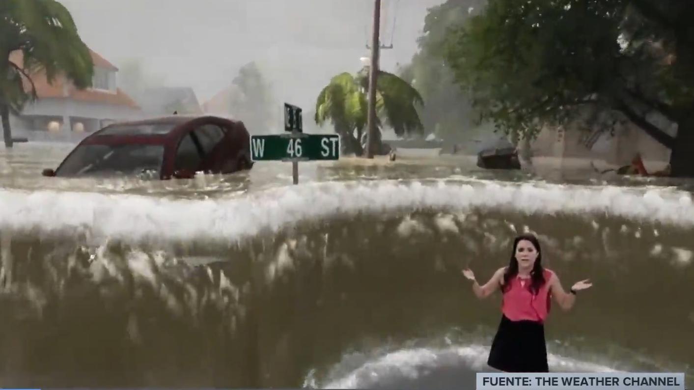 El programa enseña las consecuencias que trae el huracán.