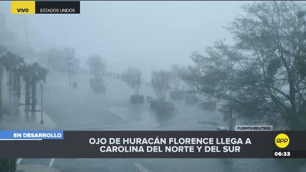 El huracán Florence golpea a Estados Unidos