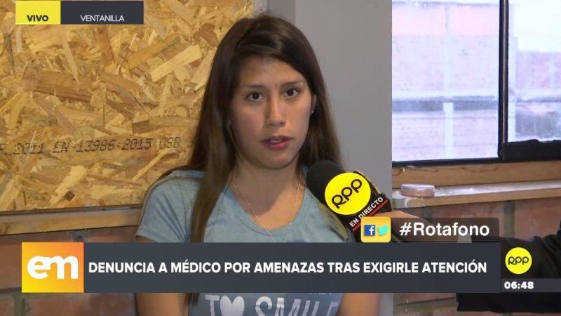 Brenda Horrillo presentó su denuncia ante el Rotafono de RPP Noticias.