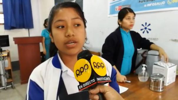Escolar de institución educativa El Indoamericano.